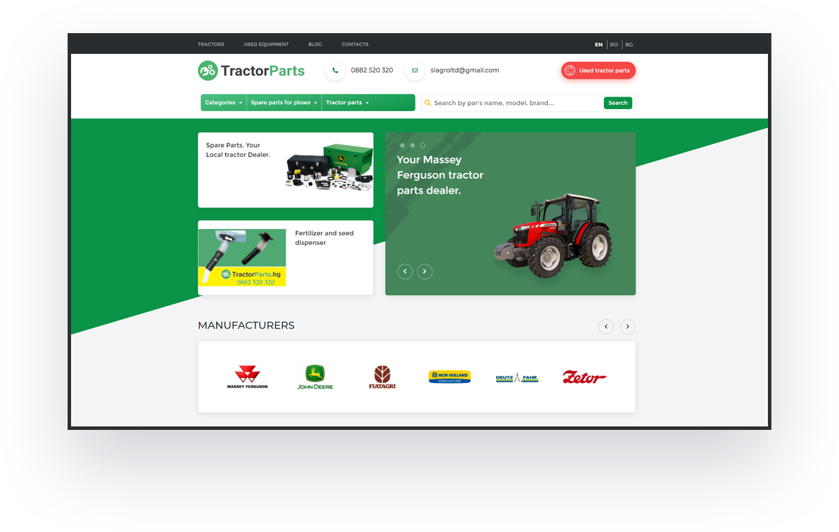 tractorparts website