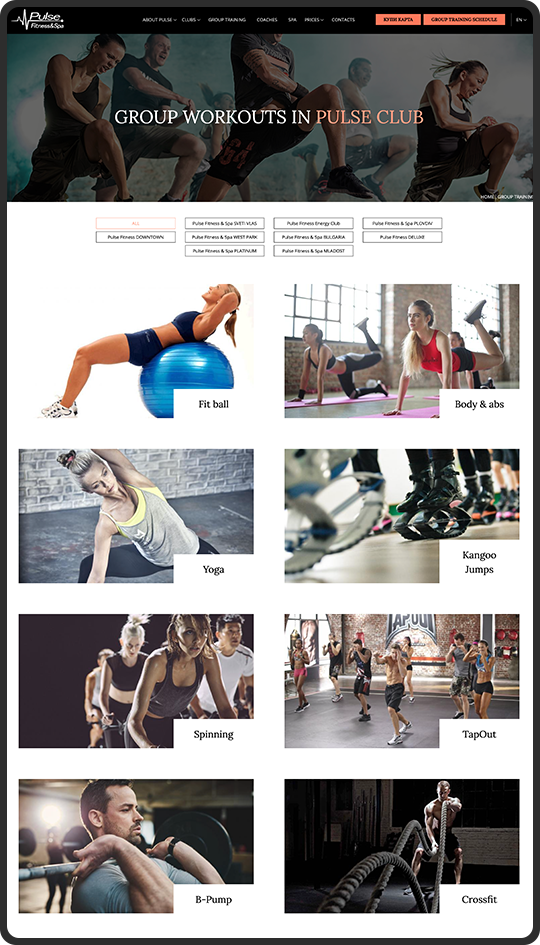 Pulse Fitness-pages